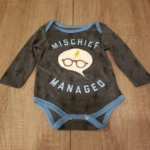 $3 w/ bundle! Harry Potter Mischief Managed Onesie